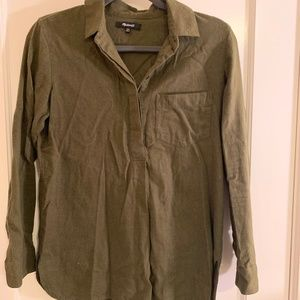 Green Madewell 1/2 front button up